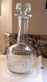 Fancy Detail Decanter Heavy Blown Lead Glass c1970 or Carafe Wine Fine Heavy Glass