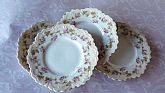 Antique Austria M Z Stamped Bread or Cake Plate Set of 4 Possible 1890 to 1904 aprox