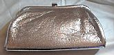 RETRO 1950s Shimmering Silver Clutch Purse Evening Bag