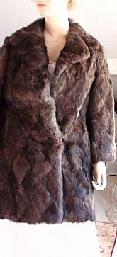 Elegant Fur 3/4 Length Vintage 1950s Luxurious and Fluffy Rabbit Fur Coat Size 10
