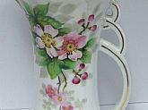 Ucagco China Hand Painted Milk Pitcher Jar Rare Collectors Item vintage Water Jar Chocolate Now on SaLe
