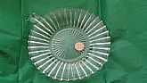 Vintage Heisy Glass Small Handle Tray Signed 6 1/2 Diam. Excellent conditon On SaLe Now