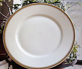 White and Gold Rim Dessert Plate Antique Replacement Plate for you