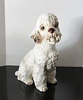 Collectible vintage porcelain dog figurine