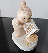 "1984 Family Circus figurine titled ""Dolly's Helping"""