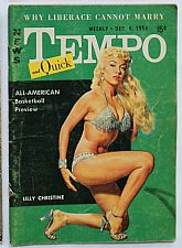 Tempo Men's Magazine - Dec 6, 1954 - Lilly Christine, All-American basketball preview, Why Liberace cannot marry