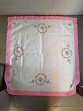 This is a beautiful handmade and hand embroidered small rectangular 36X39 vintage tablecloth in great shape.  No rips, stains or raveling.