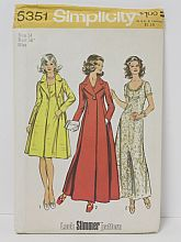 1970'S Sewing Pattern #5351 2 Coats and Dress