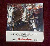 1984 Bud Clydesdale Calendar; Breed History, Care, Parades