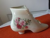 Vintage Victorian Formalities Porcelain Shoe with Roses.