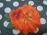 Orange Hair Flower with orange pansie