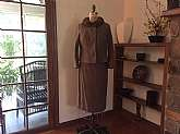 Women's Lovely 2 piece SuitBrown Boucle wool with brown mink collarSkirt and jacket Jacket is completely lined, Skirt lined on back side, both with crepe fabricunsure of size see measurements Skirt measures flat 16�S