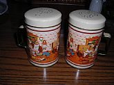 1970's  metal shakers with Santa theme