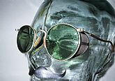 Antique American Optical Green Ful-Vue Mesh Shield Goggles Sunglasses