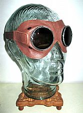 """Antique WWII German DAK AFRIKA KORPS Goggles + Case Umbral"""