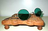 Antique Green Sunglasses Spectacles Vintage