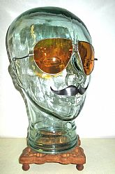 Antique Amber Sunglasses Spectacles Vintage