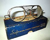 Antique Bausch & Lomb Safety Glasses Goggles