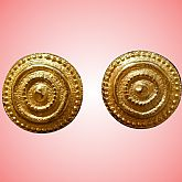 LARGE! Vintage 1980s CHANTAL for EDOUARD RAMBAUD MAISON GRIPOIX PARIS Clip EARRINGS