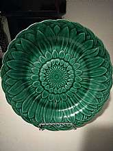 You will receive: (1) Antique Pottery Wedgwood Green Sunflower Majolica Plate 19th centuryExtra Details: This is an Antique item and is in what I would consider perfect condition other than manufacturer defects. Displays well and Measures Approximately