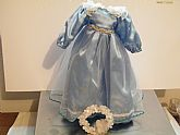 Used Cinderella Dress with Headband for 12 inch doll, 6 inch circ. waist.