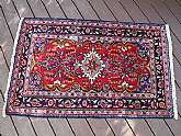 Vintage Handwoven Persian Scatter Rug Well Made 5'  by 3' 2