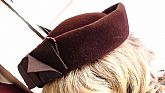 Velvet Velour Hat 1920's Pill Box Hat RE Wine Color Classy and Hollywood Hats Made in Italy ON SaLe Now