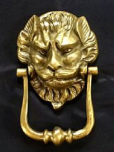 Vintage 1960's Solid Brass Door Knocker.