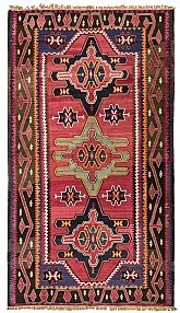 A semi-antique Caucasian Rug , circa 65 years old. 