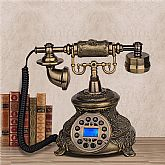 This is a reproduction of Vintage wired telephone from 1950's.