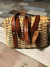 Vintage Wicker Child's Purse