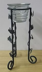 Late 80's Wrought Iron Plant Stand