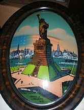 "1916 Reverse Convex/Painting ""Statue of Liberty"""