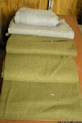 Vintage 1969 Army Issue O.D. Grey & Wool Blankets