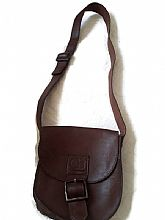 Antique Authentic Brown Colombian Bags Co Hand Crafted Leather Shoulder Bag .