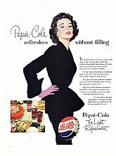1953 Ads : PEPSI-COLA - 'Modern Woman' & '53 FORD (on reverse)