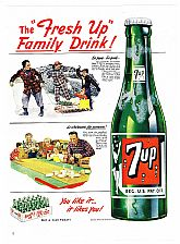 1950 Ads : 7UP SEVEN-UP - Winter Games Theme & A & P Supermarket (on reverse)