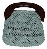 VTG Collectible Hand Crocheted Purse from 1970-80s, mint condition looks never used, rare about 7 inches wideall white no flaws