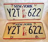 3 vintage New York tags 2 MATCHING, 1 TRAILER