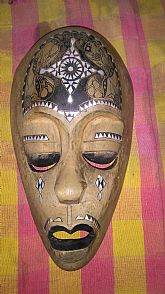 Wooden Mask From Java Indonesia