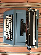 Typewriter by Olivetti from the 1970s