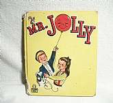 "Antique 1948 Collectible Tell-a-Tale Story BookMr. Jolly  Children's Book by Jane MathisonFull-Color Illustrations by Jesse Spicer5 1/2"" x 6 1/2""Rand McNally Publishing CompanyPrinted in 1948This vintage book is in fair condition.  The p"