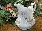 Rare elegant pitcher by E.P.P. Co.  - East Palestine Pottery Company - made in East Palestine, Ohio, USA 