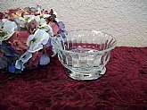 Beautiful Art Deco clear glass style serving bowl, vintage 1960s tableware