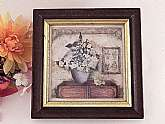 Winterle Olson original watercolor print with wooden frame, vintage1990s.