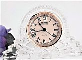 Elegant Godinger 24% Lead Crystal tabletop clock