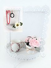 Gorgeous multi-use jewelry display rack for wall hanging or dresser top use