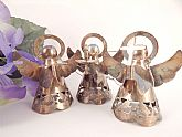 Set of three (3) angel Christmas tree ornaments.