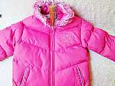 Girls Childs Coat Jacket Vintage New Unused Pink Sz 8 Winter Puffy Padded Ski Jacket Fur Collar Pockets Outerwear Sportswear Clothes