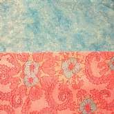 Two lovely vintage flannel fabric in pink and blue. the first is a vintage aqua cotton flannel fabric that looks like the clouds and the sky shaken up in a cocktail shaker and poured out. It is 40 wide x 35 long. This is Norcott Studio Design, 100% cotton